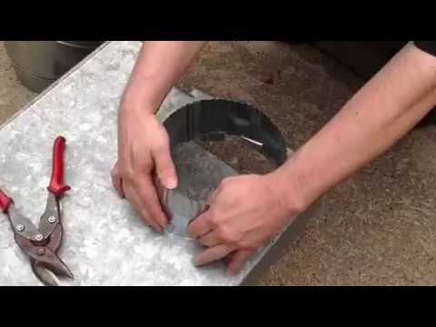 How To Install A Round Start Collar In Ductwork Youtube