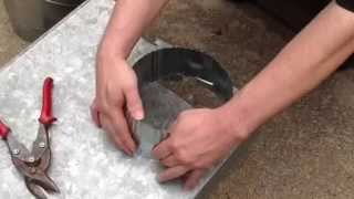 How to install a round start collar in ductwork