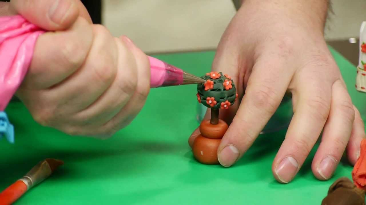 Sugar Paste Cake Decorating How To Make A Sugarpaste Topiary Tree Cake Decorating With Paul