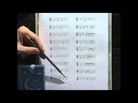 Rhythm drill, part 1 , piano music lesson, reading exercise