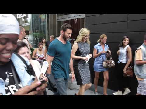 Take a walk with Wolverine Hugh Jackman in New York city.