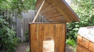 Как сделать будку для собаки (утепленный вариант, с открывающейся крышей)