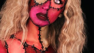 Be Mine, Frankentine / Valentine's Day Body Paint Makeup Tutorial
