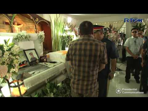 Visit to the Wake of S/Insp. Mark Gil Garcia 8/24/2016