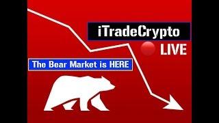 Spotting Patterns - Descending Triangle? 🔴 LIVE | Crypto | Bitcoin