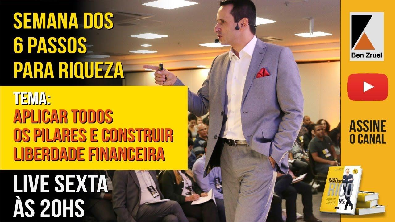 Live Semana da Riqueza: Aplicar os Pilares da Riqueza e Liberdade Financeira - com Ben Zruel