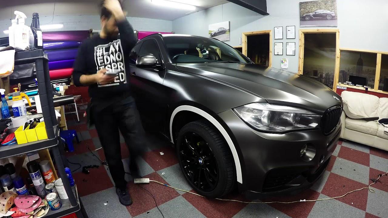 Bmw X6 Nero Pearl Black Wrap Youtube
