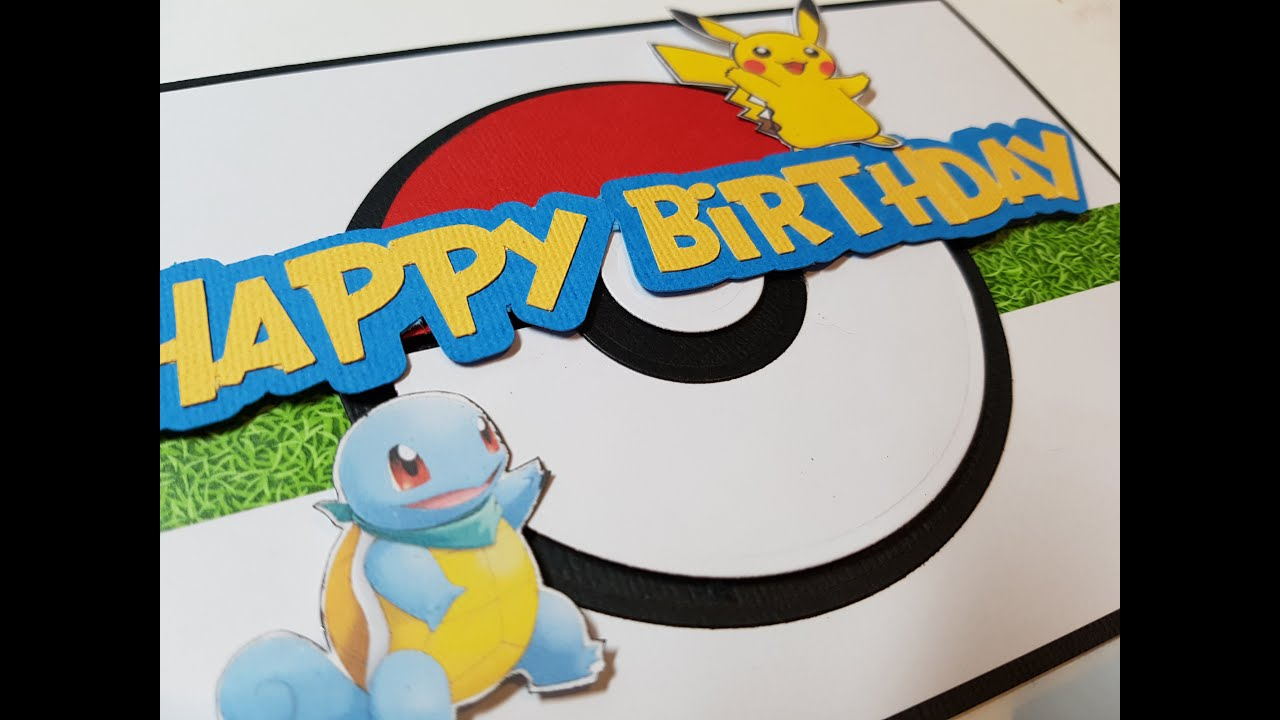 Birthday Cards Cartoon ~ How to make simple pokemon themed birthday cards youtube