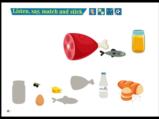 Listen, Say, Match and Stick - Cim and Cimcime - Okul Öncesi İngilizce Eğitim