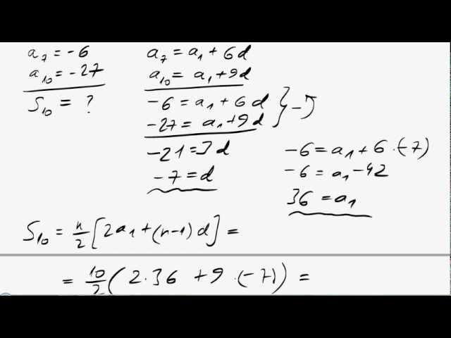 12. o. Számtani sorozat 5.-7. összetettebb feladatok