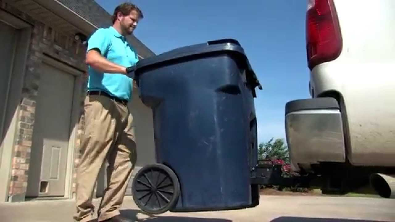 Tote Caddy Trash Can Transporter Youtube