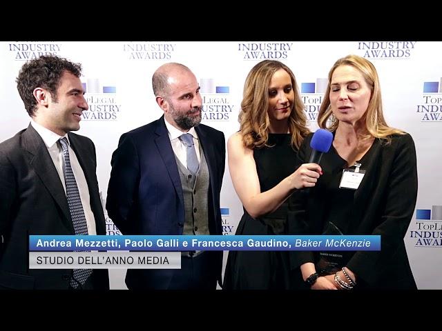 Andrea Mezzetti, Paolo Galli e Francesca Gaudino, Baker McKenzie - TopLegal Industry Awards 2019