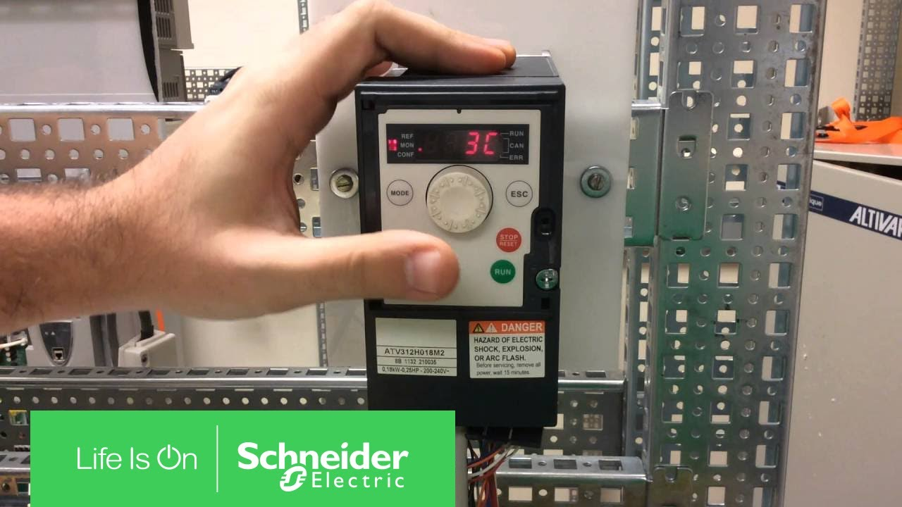 Configuring Atv312 For 3 Wire Control Schneider Electric Support Altivar 61 Wiring Diagram Youtube
