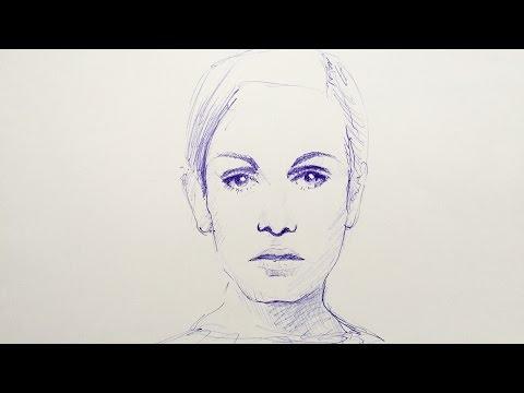 Portrait zeichnen lernen - kreative Techniken - Mappenkurs Kunst, Mappenkurs Modedesign