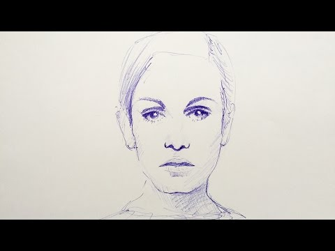 Portrait zeichnen lernen – kreative Techniken – Mappenkurs Kunst, Mappenkurs Modedesign
