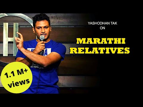 Marathi Relatives | मराठी  पाहुणे  |Stand-up Comedy By Yashodhan Tak | Cafe Marathi