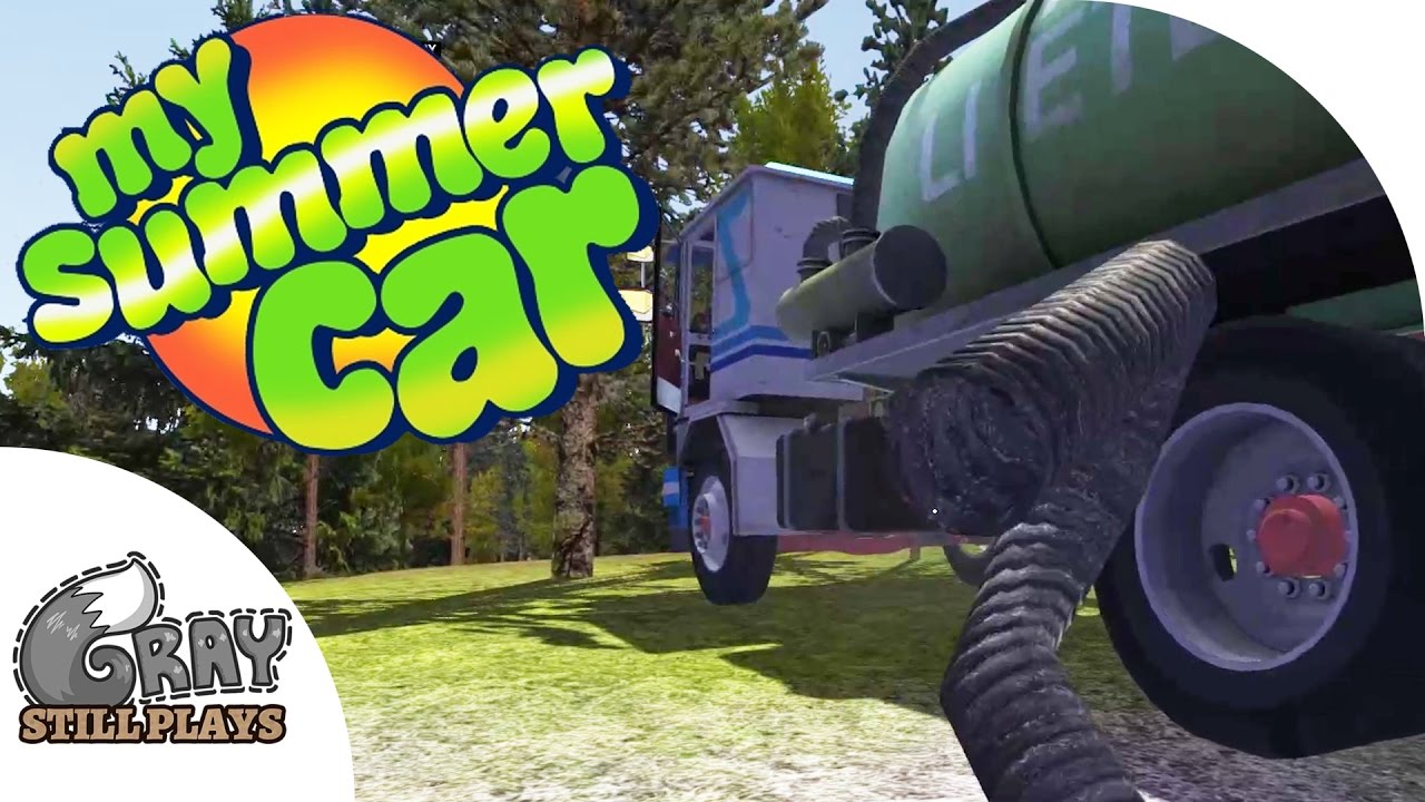 My Summer Car - How to Suck Sewage to Make Money, More Police ...