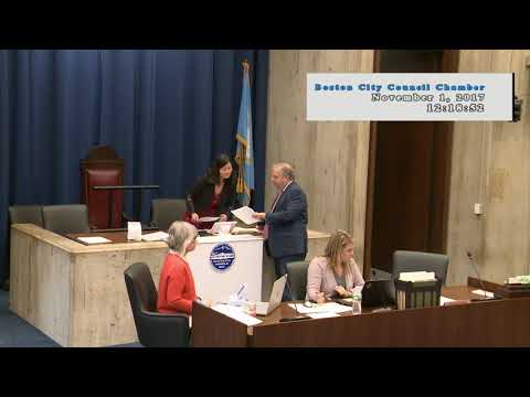 Boston City Council Meeting on November 1, 2017