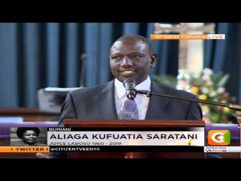 DP Ruto – Doctors In London Told Us It Was Impossible [to Heal Joyce's Cancer]