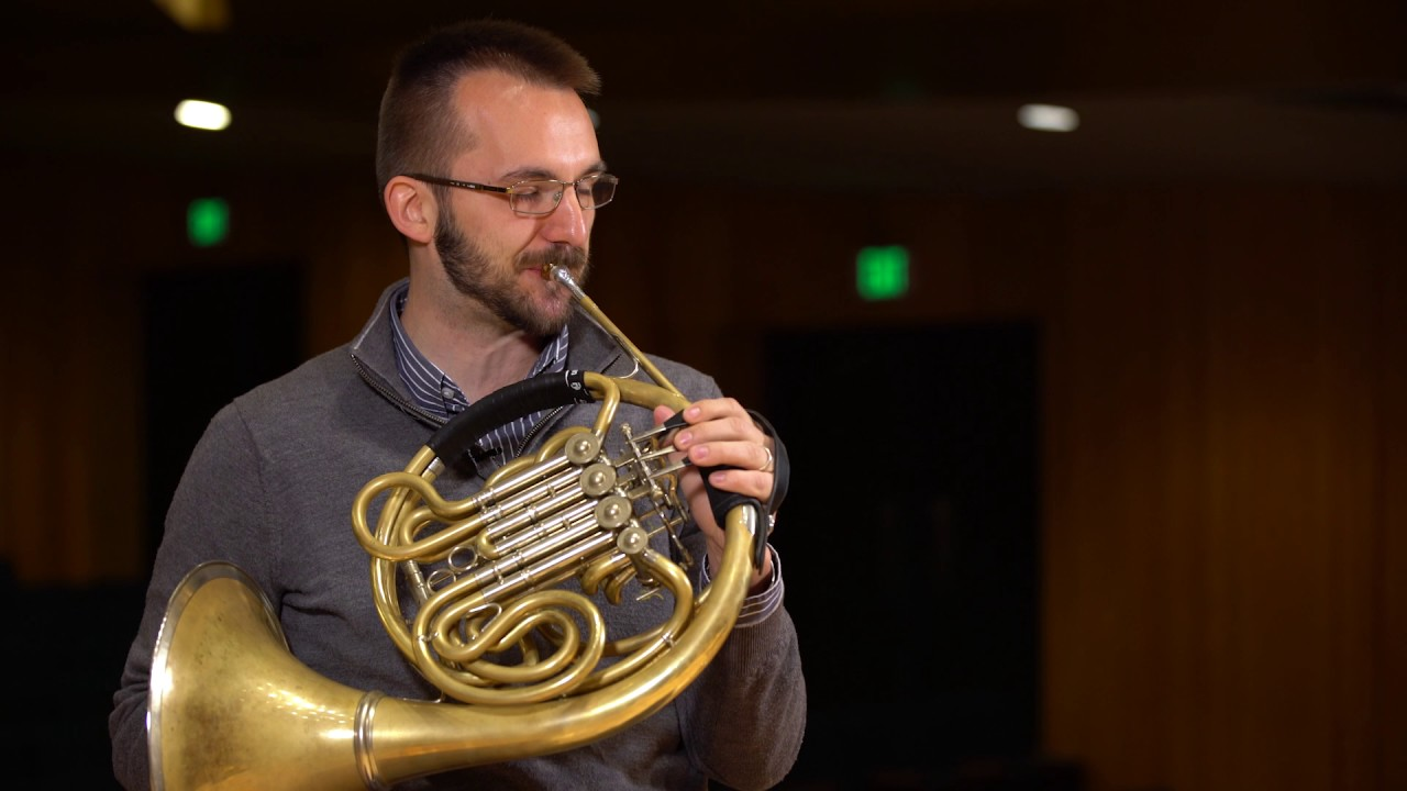 what does a french horn sound like scale youtube