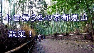 京都嵐山へ ぶらり散策! 小雪が舞う冬に嵐山へ行くのは滅多にないです...