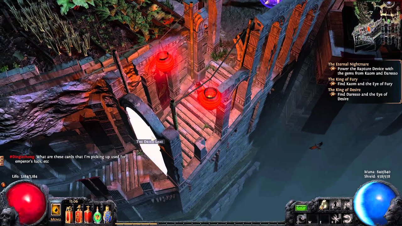 path of exile essence drain contagion witch dried lake