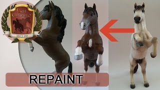 Speedpaint - REPAINT [Schleich Horse] - rearing mustang changed to FREEDOM