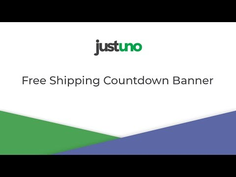 Free Shipping and Shipping Deadline Countdown Banner thumbnail