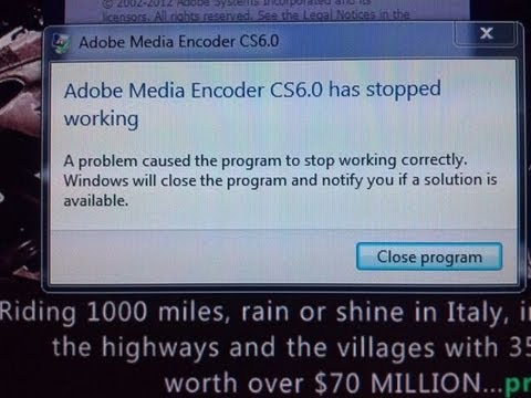 Why does Adobe Media Encoder keep crashing? How to fix Media encoder in TWO  seconds! :)