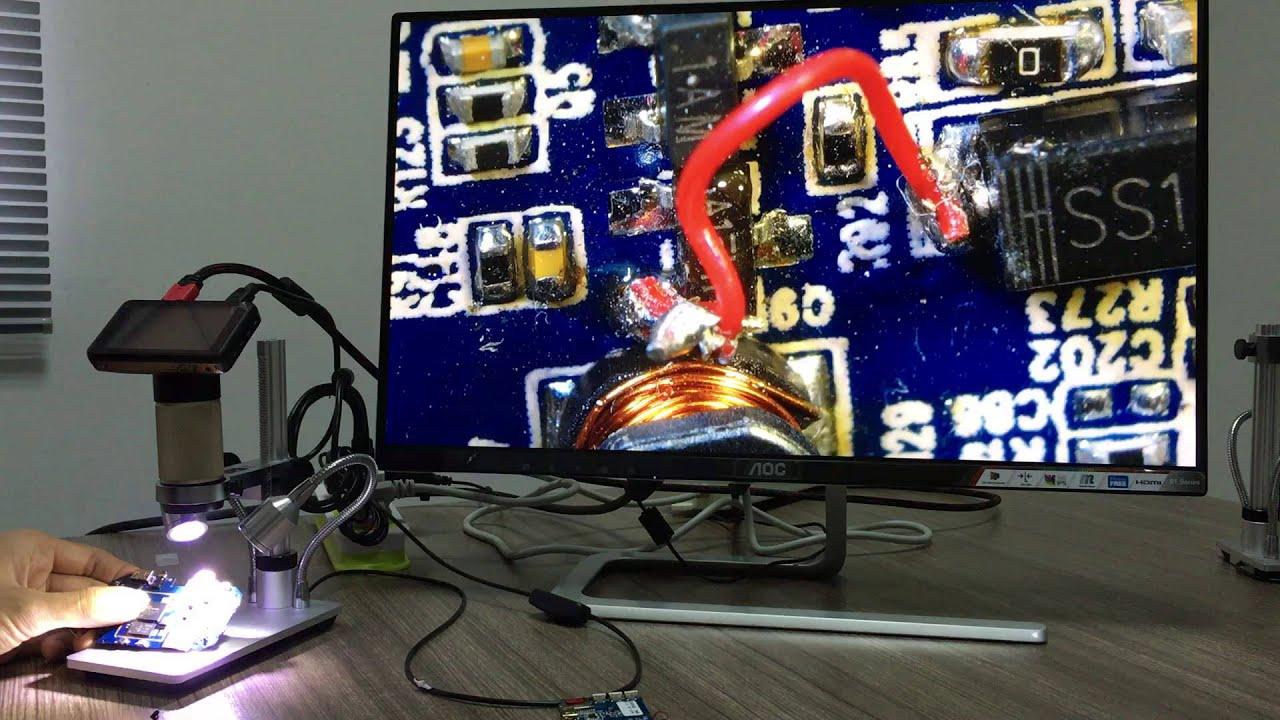 Andonstar adsm usb digital microscope hdmi hd p camera for