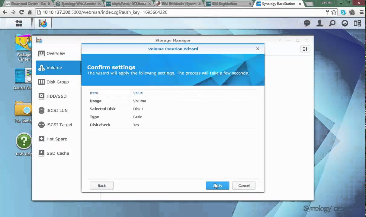 install and configure NAS Synology 2414