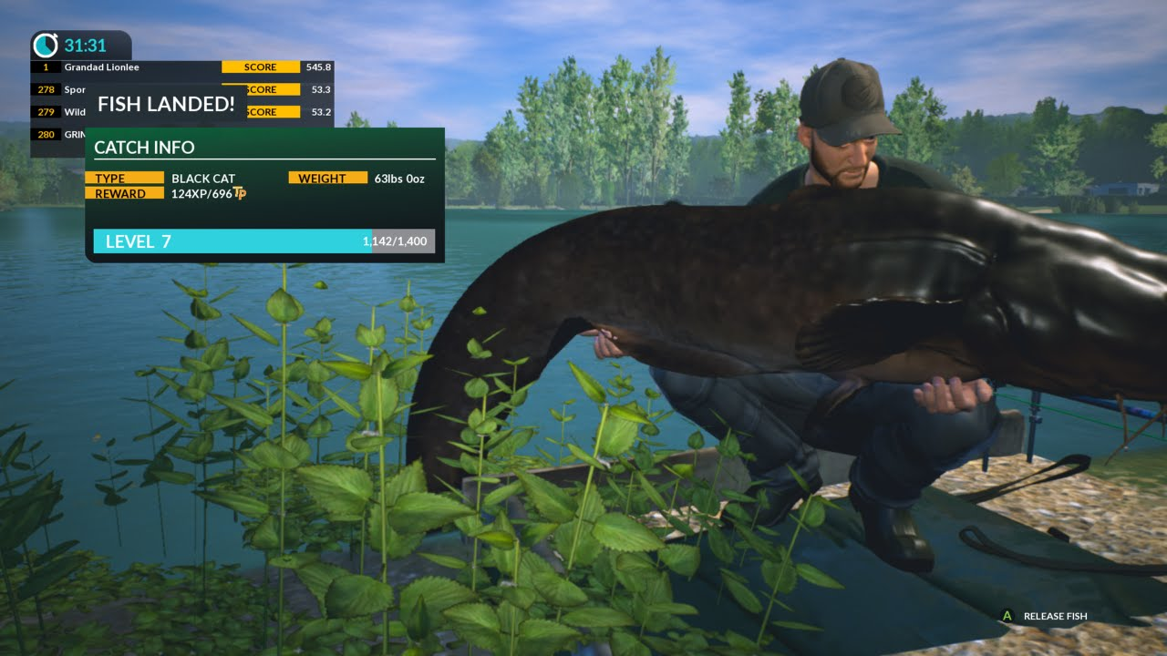 Dovetail games euro fishing xbox one big catfish youtube for Xbox one fishing games
