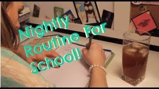 Nightly Routine For School Thumbnail