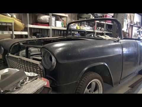 1955 Chevrolet Convertible fiberglass project car