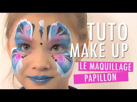 un maquillage papillon pour enfant tuto make up youtube. Black Bedroom Furniture Sets. Home Design Ideas