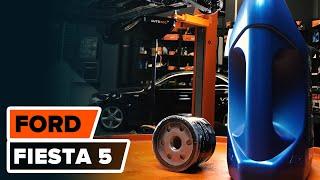 Cum se inlocuiesc uleiul de motor și filtrul de ulei pe FORD FIESTA 5 TUTORIAL | AUTODOC