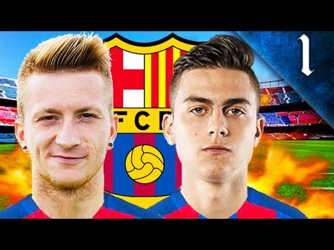 REUS, DYBALA, DAVID VILLA SIGN! FIFA 17: BARCELONA CAREER MODE EP. 1