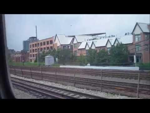 CTA Green Line train from Harlem/Lake terminal to Randolph/Wabash (06-04-16)
