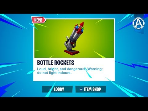 """NEW """"BOTTLE ROCKETS"""" Gameplay! // Pro Console Player // 1750+ Wins (Fortnite Battle Royale LIVE) thumbnail"""
