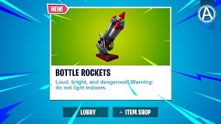 "NEW ""BOTTLE ROCKETS"" Gameplay! (Fortnite Battle Royale LIVE)"