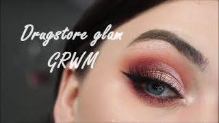 Drugstore glam cut crease GRWM - Sophdoesnails x makeup revolution palette