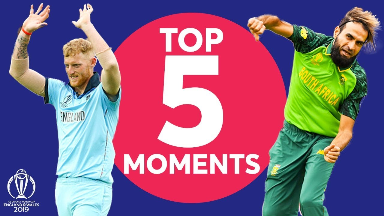 Stokes Stunner? Tahir Magic? | England vs South Africa - Top 5 Moments | ICC Cricket World Cup 2019