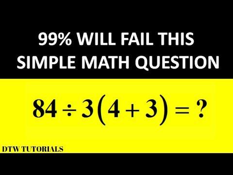 99% Will Fail This Simple Math Question