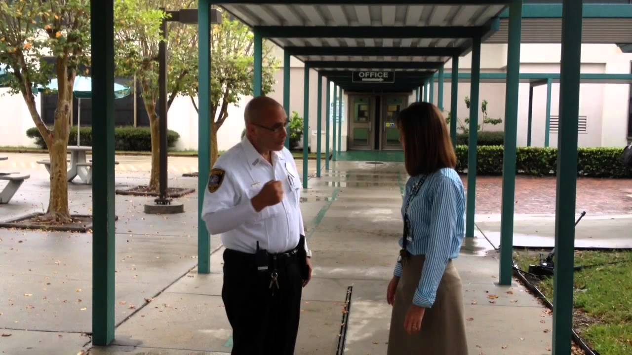 security guard reports for duty at oneco elementary school in security guard reports for duty at oneco elementary school in bradenton