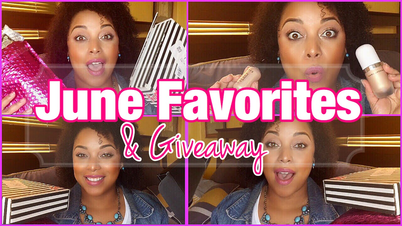 JUNE FAVORITES 2017 + GIVEAWAY | Beauty Unboxing Natural Hair Skincare Makeup | MelissaQ