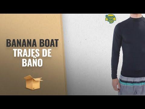10 Mejores Banana Boat 2018: Banana Boat Mens Rash Guard UPF 50+ Powerful Water & Sun Protection