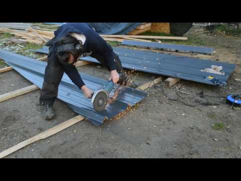atelier d'artiste partie 43 - découpe et pose du bac acier
