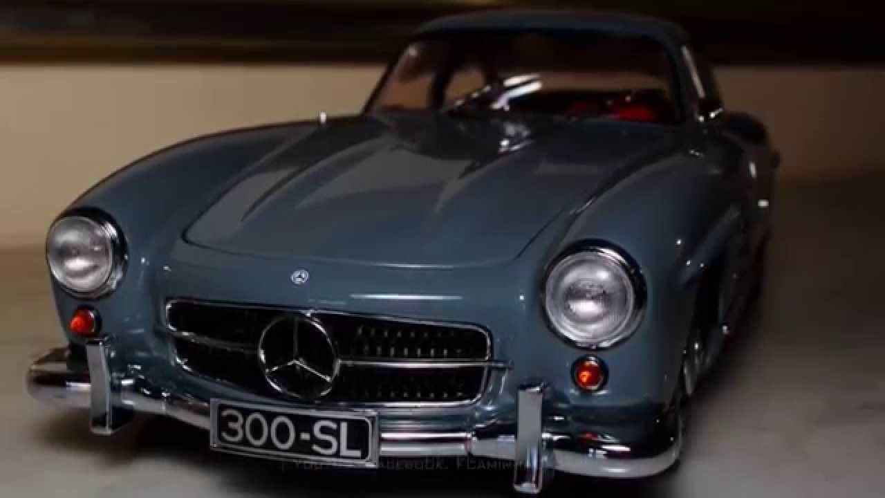 1 18 1954 mercedes benz 300 sl gullwing w198 i by minichamps fcaminhagarage youtube. Black Bedroom Furniture Sets. Home Design Ideas
