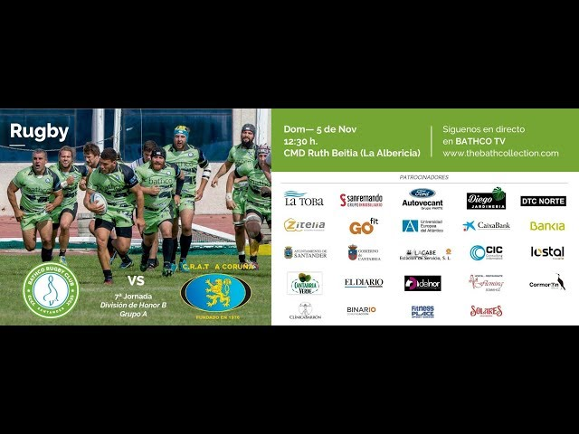 Retransmision Bathco Club de Rugby Santander vs CRAT A Coruña