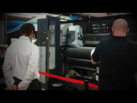 Digital printing of large format HP Scitex FB7600 (Barcelona Demo Day)